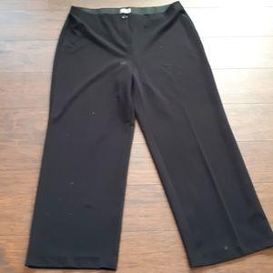 Black Laura Plus wide leg trousers (104-1)